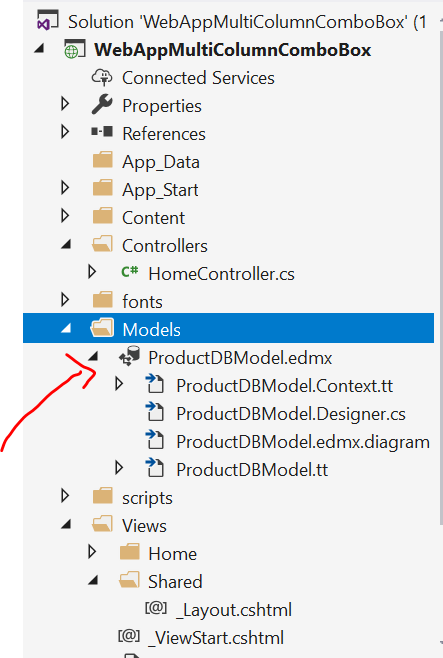 Add Ado.Net entity data  Model