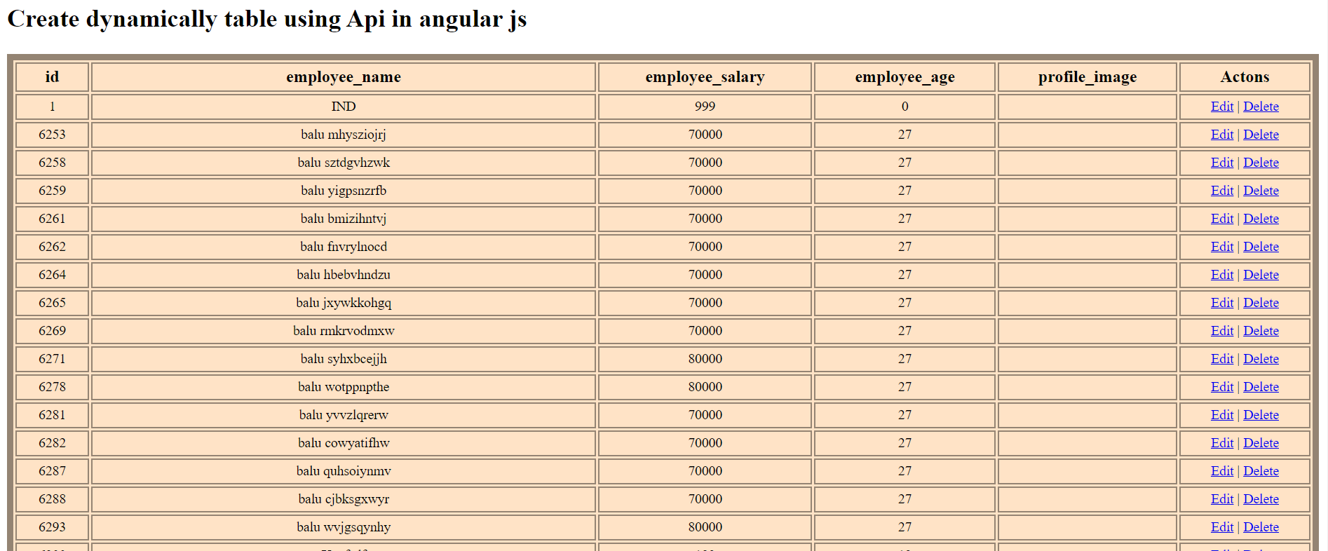 dynamically table using Api in angularjs