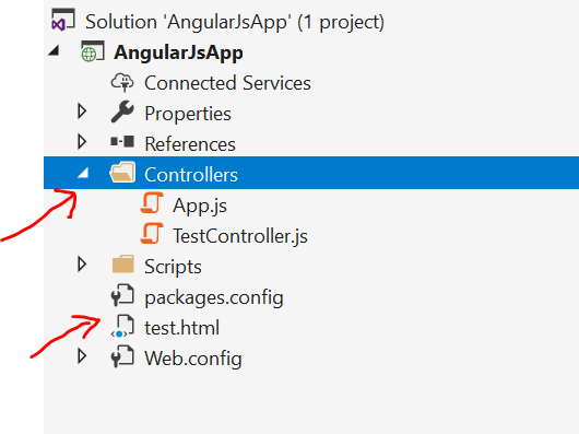 Setup angularjs application in visual studio 2019