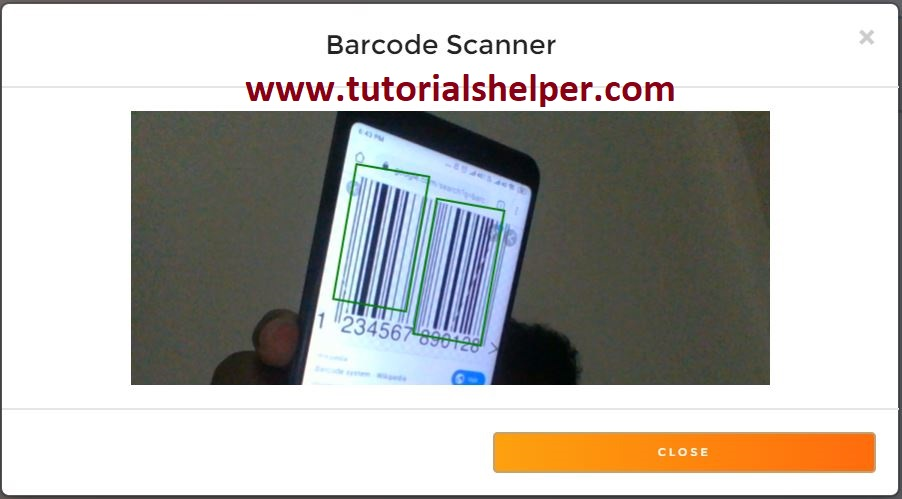implementing barcode scanner using javascript with generating  invoice