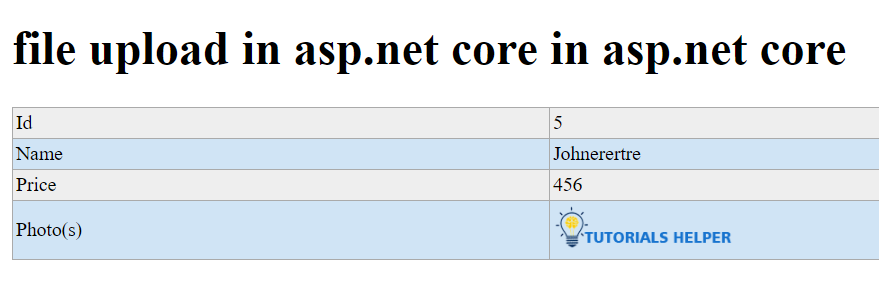 file upload in asp.net core in asp.net core