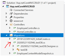 How to Enable the Migration in asp.net core?